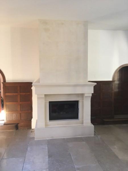 Fourniture et pose d'une cheminée simple  autour d'un insert prêt de Dieppe