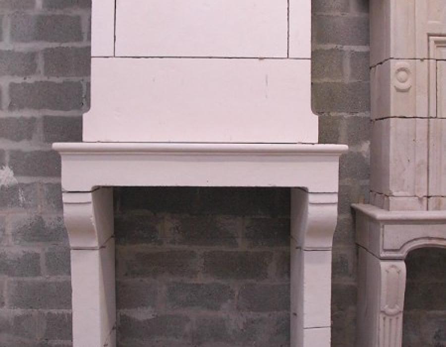 cheminée Normande en copie à trumeau - réf 79 - en pierre fine de Tervoux